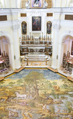 Ceramic floor of San Michele (Saint Michael) church  Anacapri  Capri  Italy