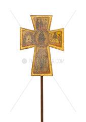 Crucifix on a white background