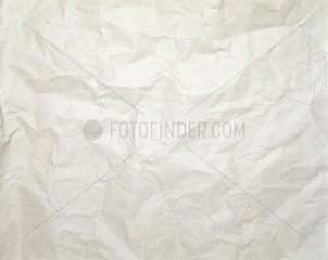 crumpled packaging paper of bright colour