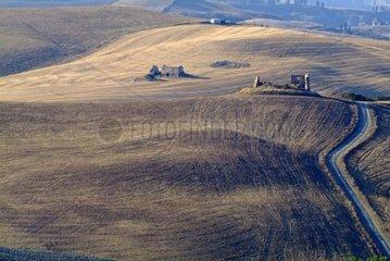 Landschaft mit Ruinen  Toskana