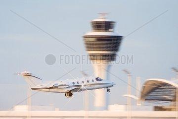 Privatjet am Flughafen