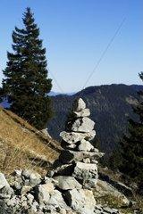 Gesteinsformation in den Alpen