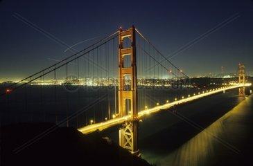 Golden Gate Bridge at Night  San Francisco  California