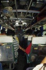 Innenansicht eines Busses in Thailand
