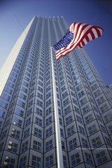 Wachovia Financial Center mit US-Flagge  Miami  Florida