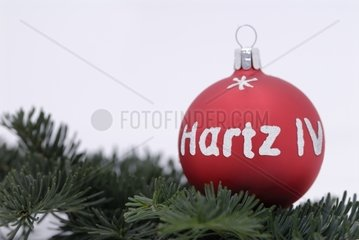 Hartz4-Christbaumkugel