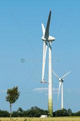 Reparatur am Windkraftwerk
