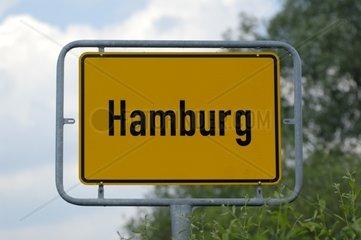 Ortsschild  Hamburg  Deutschland