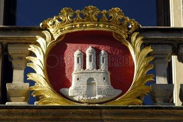 Wappen Hamburg am Goertz-Palais  Deutschland