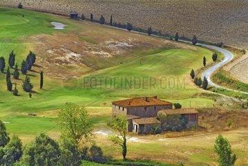 Landscape with House  Tuscany  Italy