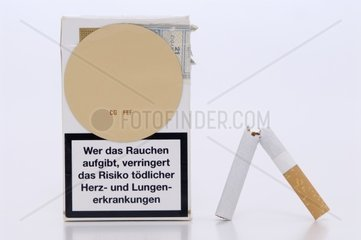 Packet of Cigarettes with Nicotine Patch