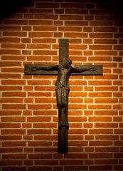 Munich Frauenkirche Crypt Frauenplatz  detail of jesus crucified