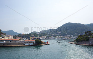 Ischia Porto  Italy  showing harbor district