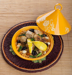 Tajine  Moroccan food  cous cous  chicken with lemon confit