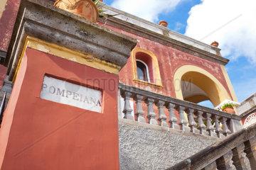 Red House Pompeiana in Capri island  Italy