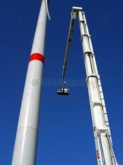 Service bei Windkraftanlage
