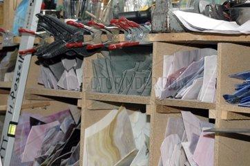 Glasscheiben in Glaserei Werkstatt
