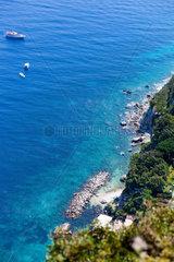View of the coast of the island of Capri  Italy