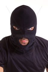 Criminal with balaclava