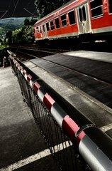 Eisenbahn beim Bahnuebergang