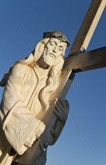 Grabkreuz auf einem Friedhof in Andalusien  Spanien