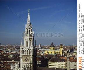 Rathausturm  M?nchen  Bayern  Deutschland