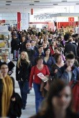Menschenmenge auf der Frankfurter Buchmesse