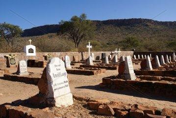 Deutscher Friedhof fuer Gefallene der Schlacht am Waterberg  Namibia
