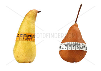 Pears measured the meter isolated on white