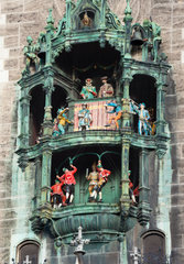 Glockenspiel on the Munich city hall  Germany