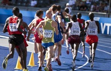 Vorlauf im 3000 Meter Hindernisrennen der Maenner bei der Leichtathletik WM 2009 in Berlin  Deutschland