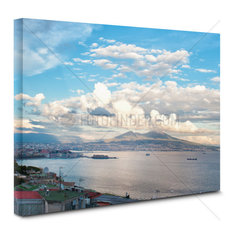 View of Naples bay on canvas