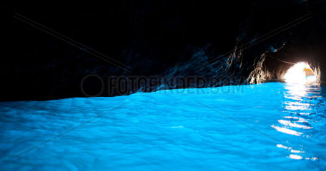 The Blue Grotto  in italian Grotta Azzurra  is a sea cave on the coast of the island of Capri  southern Italy