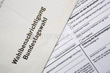 Wahlbenachrichtigung zur Bundestagswahl