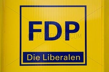 FDP Logo auf Wand