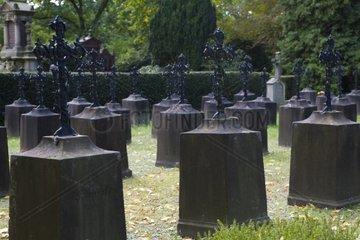Graeber gefallener Soldaten des 1 Weltkrieges  Hauptfriedhof  Kaiserslautern