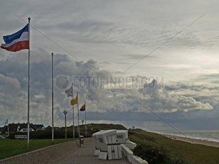 Sturm ueber Wenningstedt Schleswig Holstein Deutschland Europa