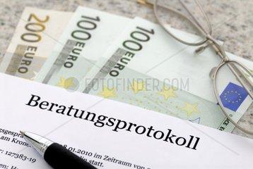 Beratungsprotokoll bei Bank und Versicherungsgespraechen