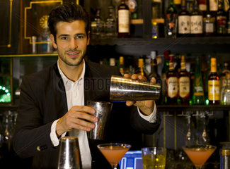 Bartender preparing cocktail