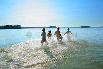 Baden im Ploener See