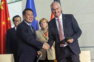 Li Keqiang + Xu Heyi + Merkel + Troska