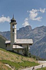 Kapelle in den Livignio Alpen