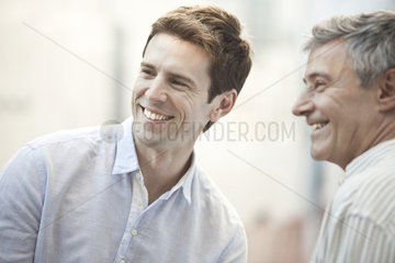 Mid-adult man with friend