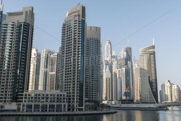 Modern skyscrapers  Dubai  United Arab Emirates