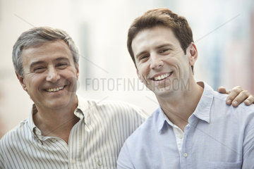 Father and adult son  portrait