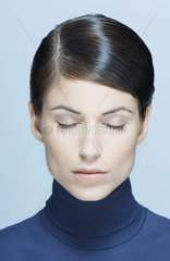 Woman  eyes closed  portrait