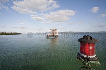 Ferry boat in water
