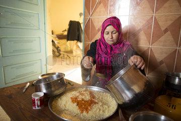 Hausfrau in der Region von Kairouan