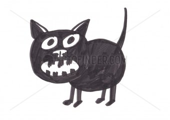 Black cat schwarze Katze