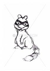 Waschb?r comic animal